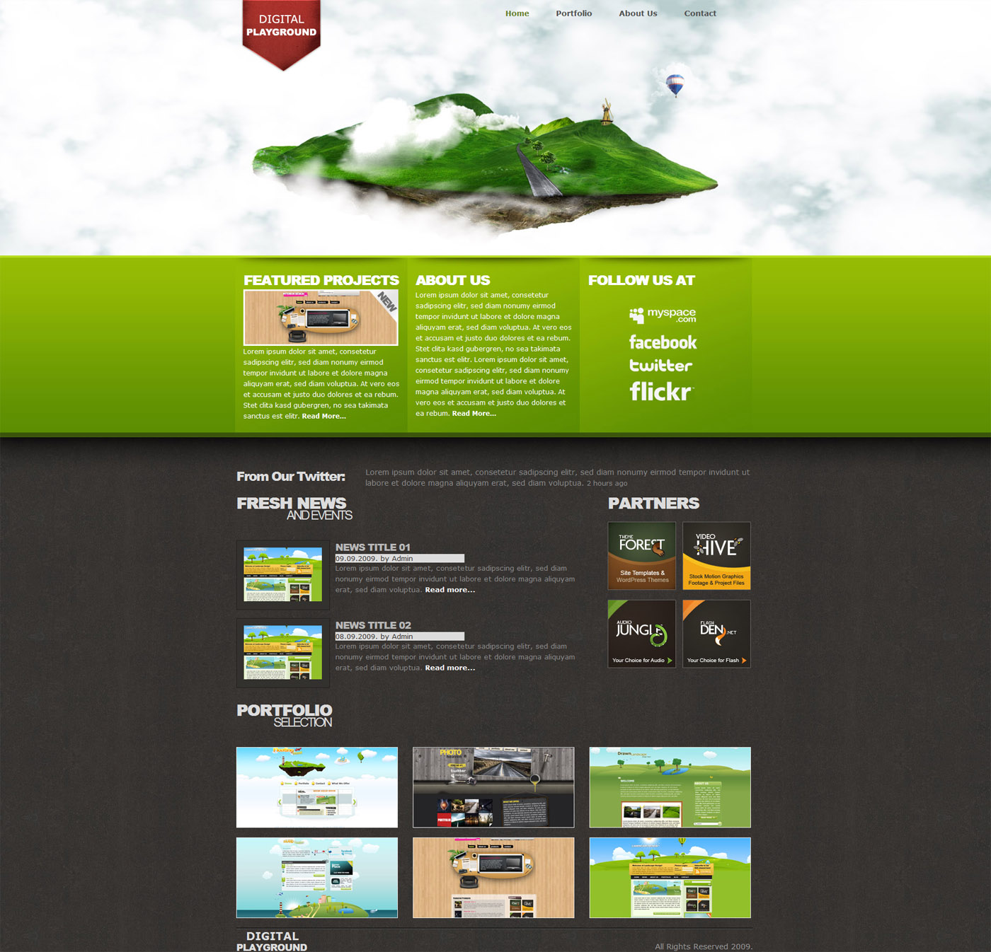 Free Download Digital Playground Modern Floating Island Template Nulled Latest Version