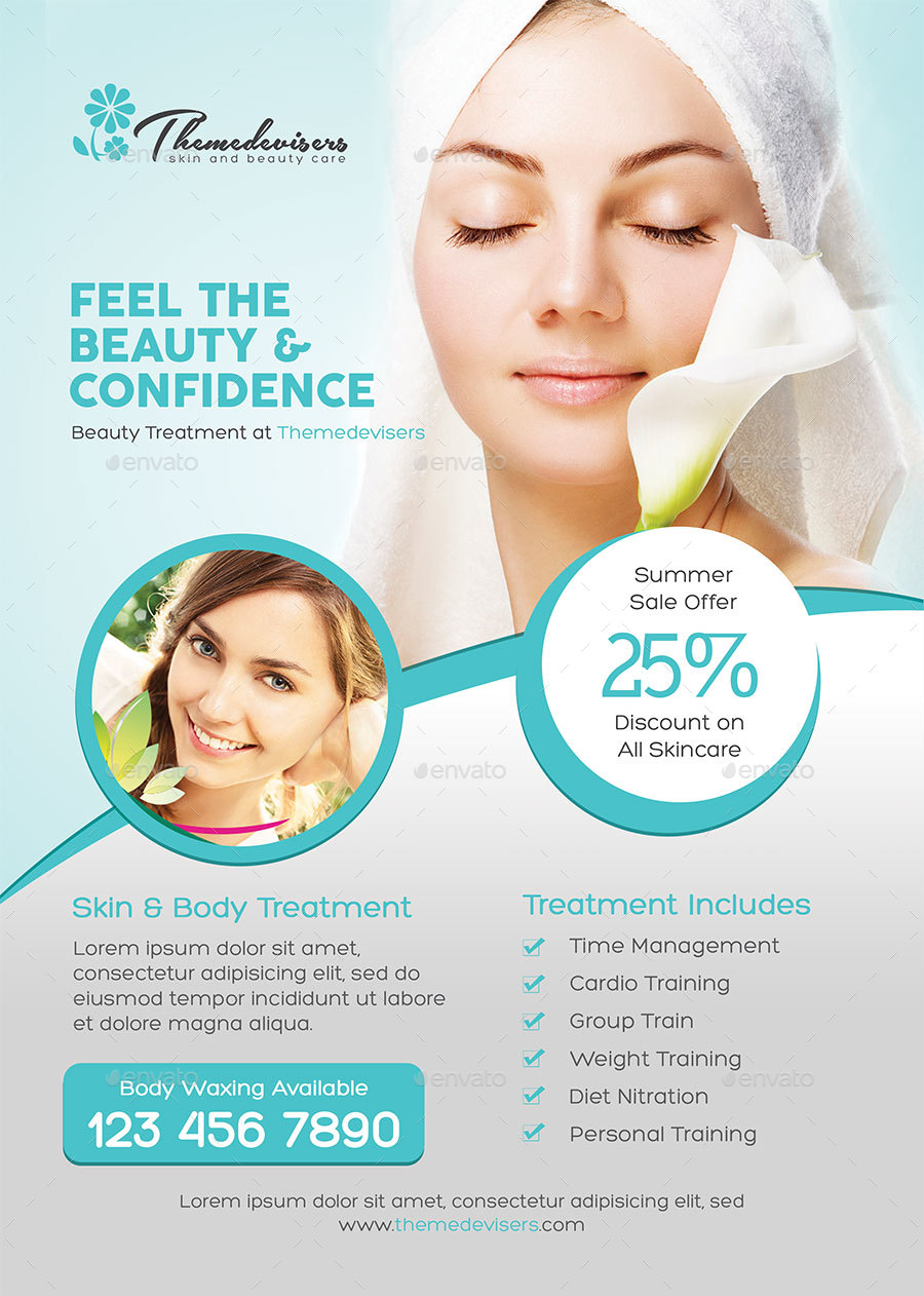 beauty care flyer by themedevisers