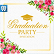 Floral Graduation Party Inv-Graphicriver中文最全的素材分享平台