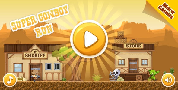 Super Cowboy Run - HTML5 Game, Mobile Version+AdMob!!! (Construct-2 CAPX) - CodeCanyon Item for Sale