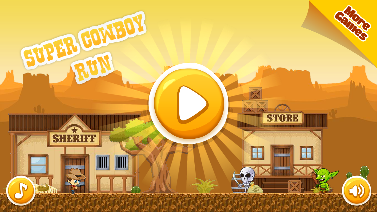 Super Cowboy Run - HTML5 Game, Mobile Version+AdMob!!! (Construct 3 | Construct 2 | Capx)