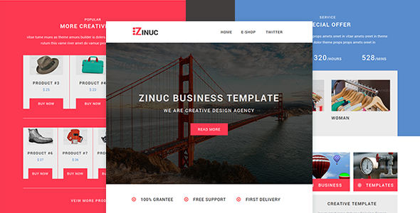 Zinuc – E-Commerce  Responsive Email with Stampready builder
