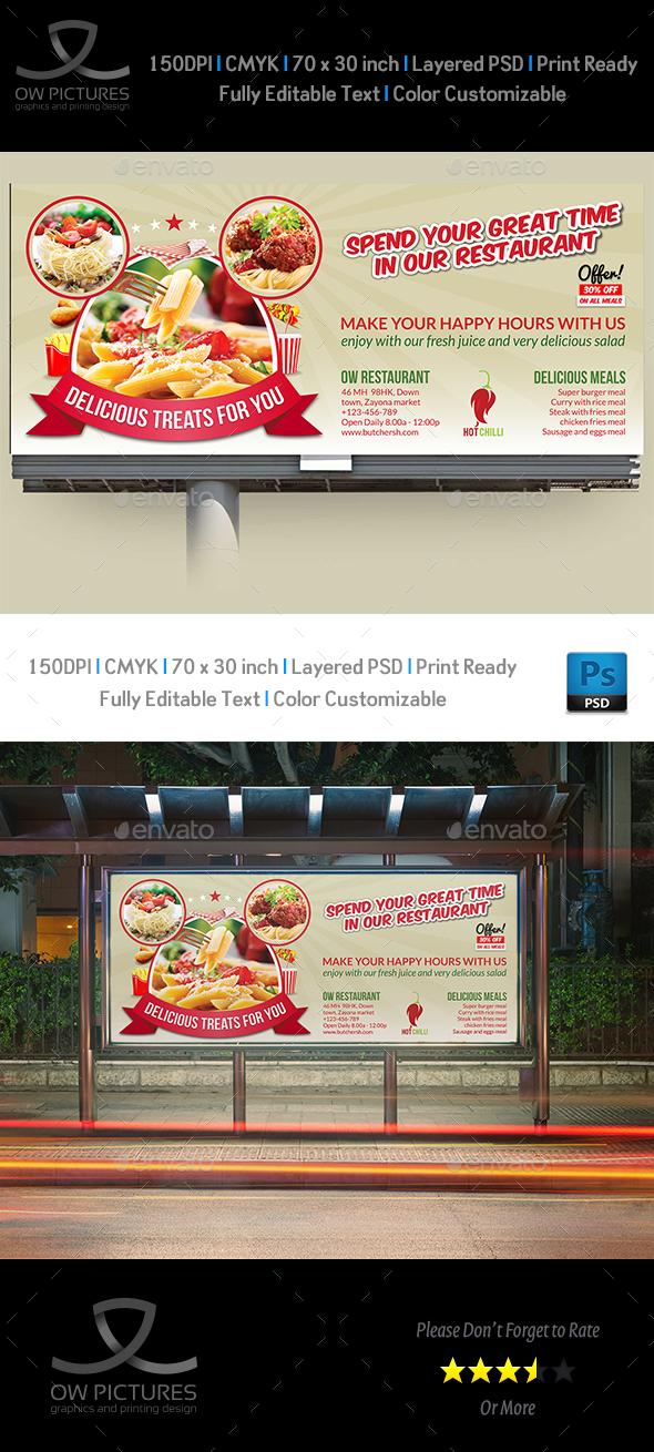 Restaurant Billboard Template Vol.5