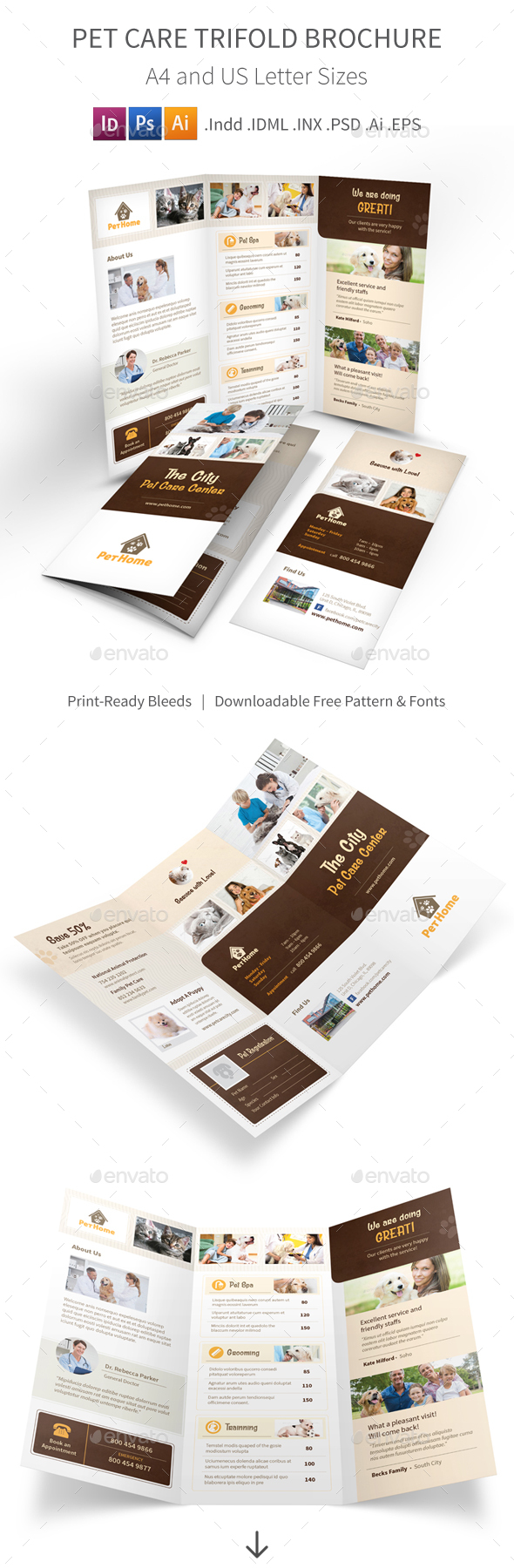Pet Care Trifold Brochure 3 - Informational Brochures