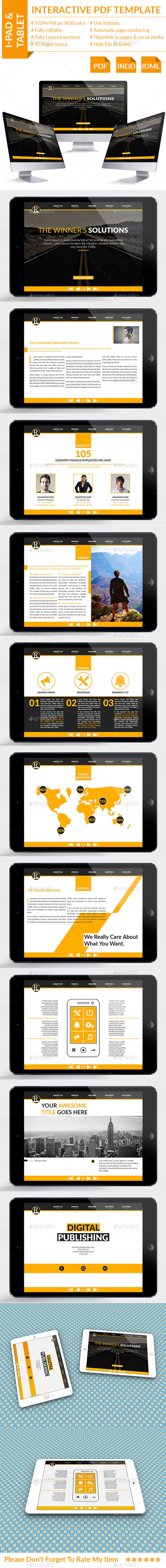 interactive pdf template by newishit graphicriver