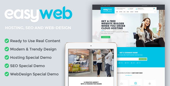 EasyWeb – WP Theme For Hosting, SEO and Web-design Agencies