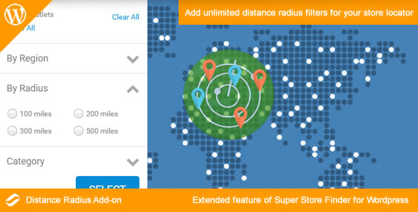 Distance Radius Add-on for Wordpress - CodeCanyon Item for Sale