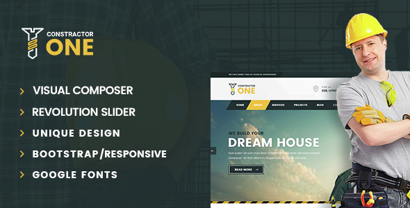 Constructor One | Construction WordPress Theme