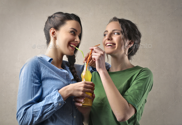 Friends drinking - Stock Photo - Images
