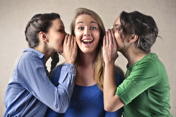 Friends gossiping - Stock Photo - Images