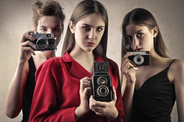 Beautiful photographers - Stock Photo - Images