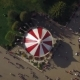 Aerial View Of Classic Carousel In Amusement Park - VideoHive Item for Sale