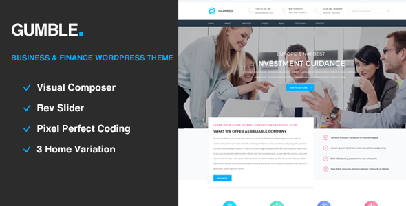 Gumble – Business and Finance WordPress Theme