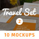 10 Fresh Business Cards Mockups - Travel Set vol. 2 - GraphicRiver Item for Sale