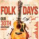Folk Flyer / Poster Template - GraphicRiver Item for Sale