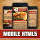 Restaurant Mobile Template Meat & Recipes - ThemeForest Item for Sale