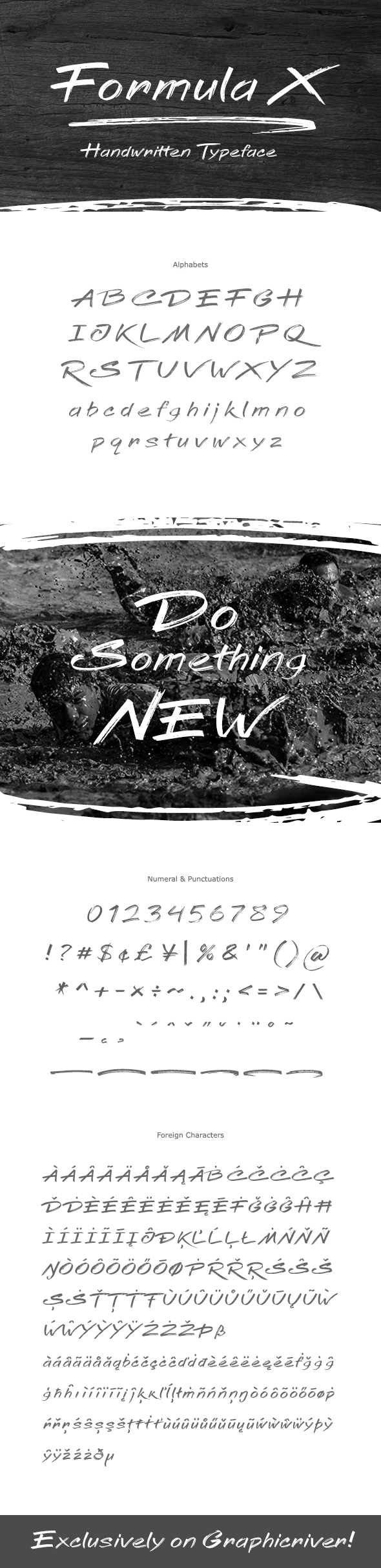 Formula X Font - Handwriting Fonts