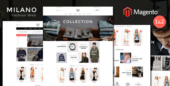 Milano - Fashion Responsive Magento 1 & 2 Theme ( RTL magento 2 supported ) - Fashion Magento