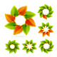 Leaf circle icons - GraphicRiver Item for Sale