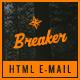 Breaker - Travel Email Template PSD + HTML Bonus