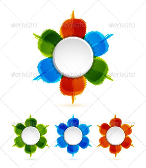 Abstract colorful design elements - Decorative Symbols Decorative