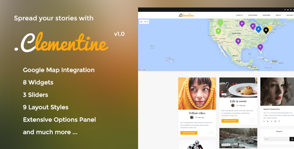 Clementine – Clean WordPress Blog Theme