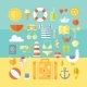 Travel Vacation Modern Style Flat Design Set. - GraphicRiver Item for Sale