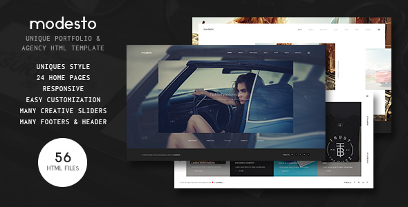 Modesto – Power Unique Portfolio, Photography & Agency HTML Template