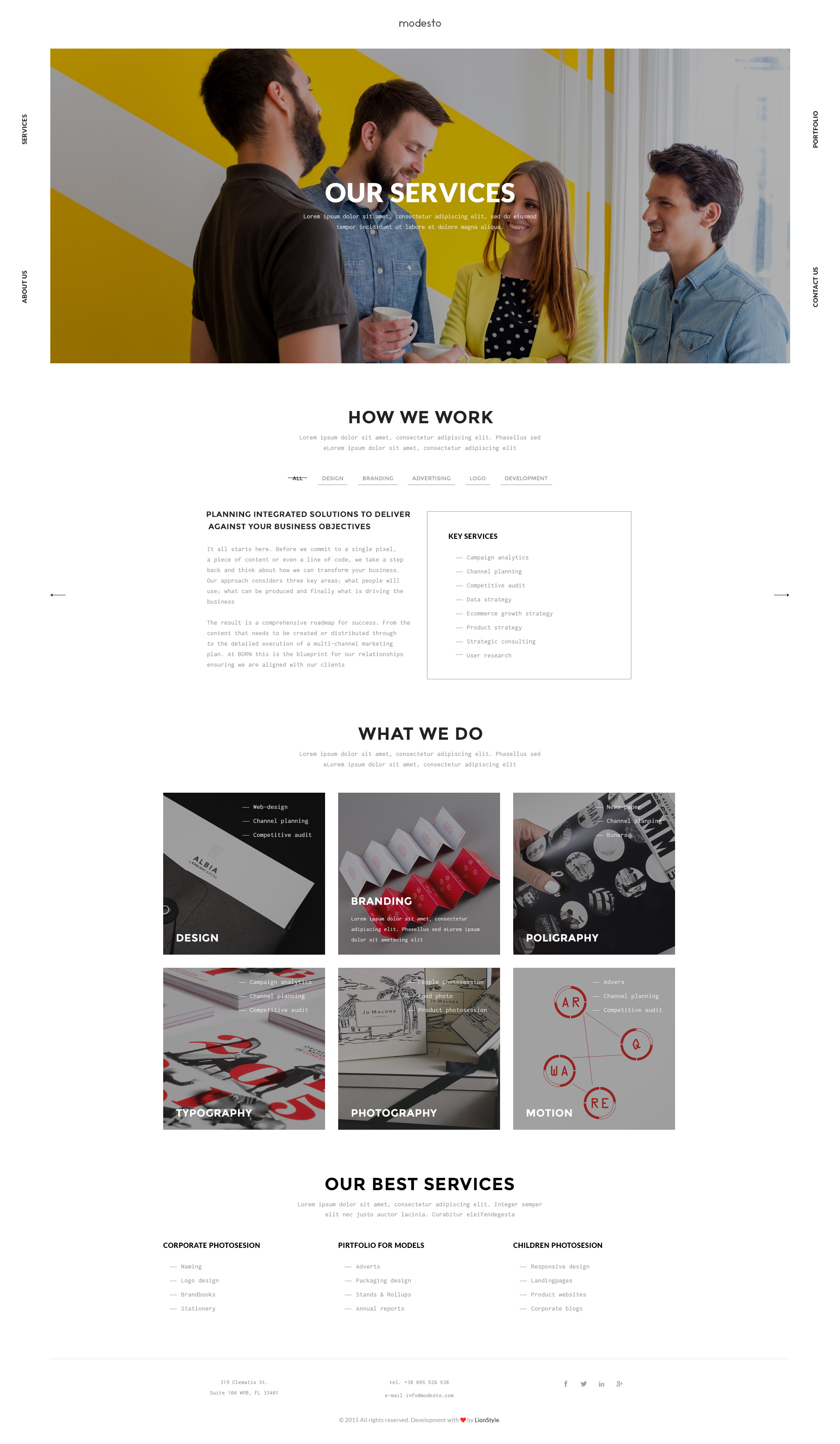 modesto power unique portfolio photography agency html template