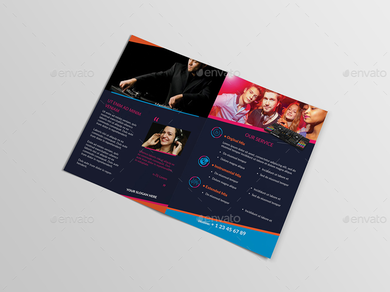 DJ/ A5 Brochure Template 02 by wutip2 | GraphicRiver