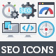 100 Flat Icons - SEO & Web Development - GraphicRiver Item for Sale