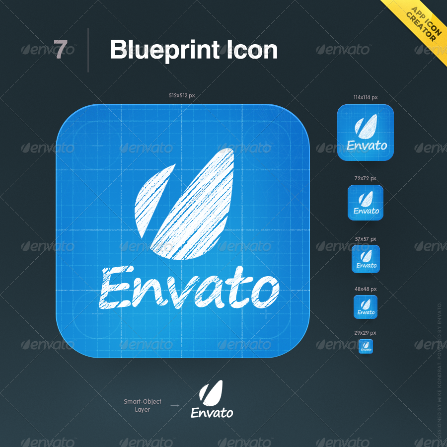 App icon creator by mikekondrat graphicriver 07 blueprint icong malvernweather Choice Image
