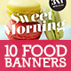 10 Instagram Food Banners - GraphicRiver Item for Sale