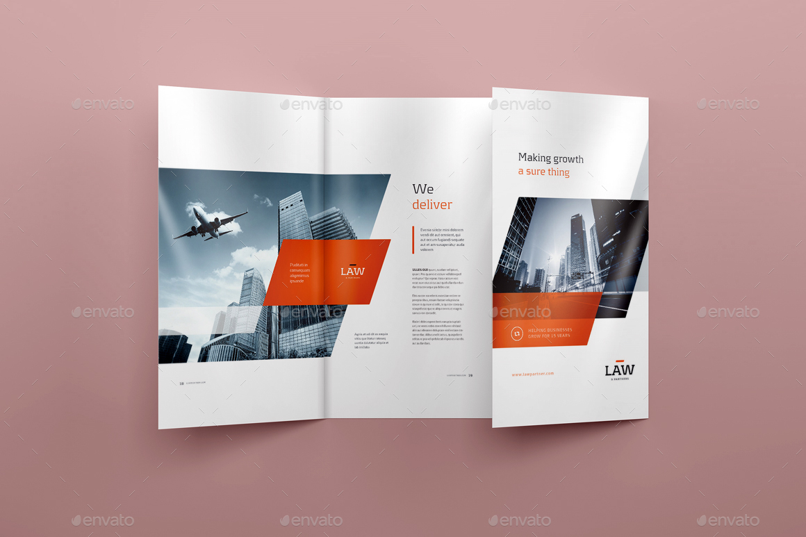 4xDL Double Gate Fold Brochure Mock Up 2