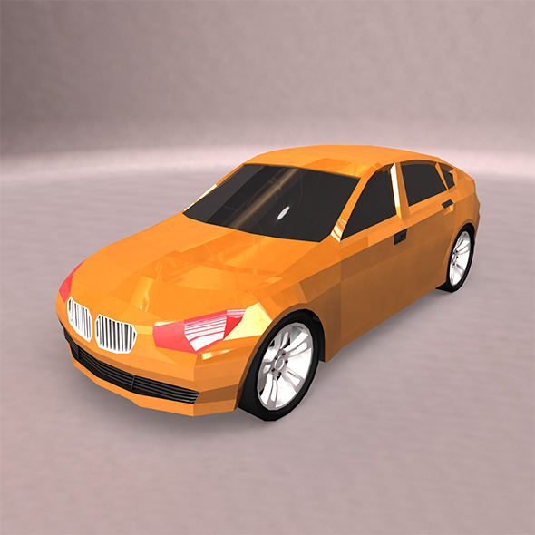 Lowpoly BMW Car - 3DOcean Item for Sale