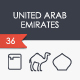 United Arab Emirates thinline icons - GraphicRiver Item for Sale