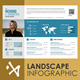 Landscape Infographic Resume - GraphicRiver Item for Sale