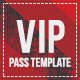 Devil Red Vip Pass Template - GraphicRiver Item for Sale