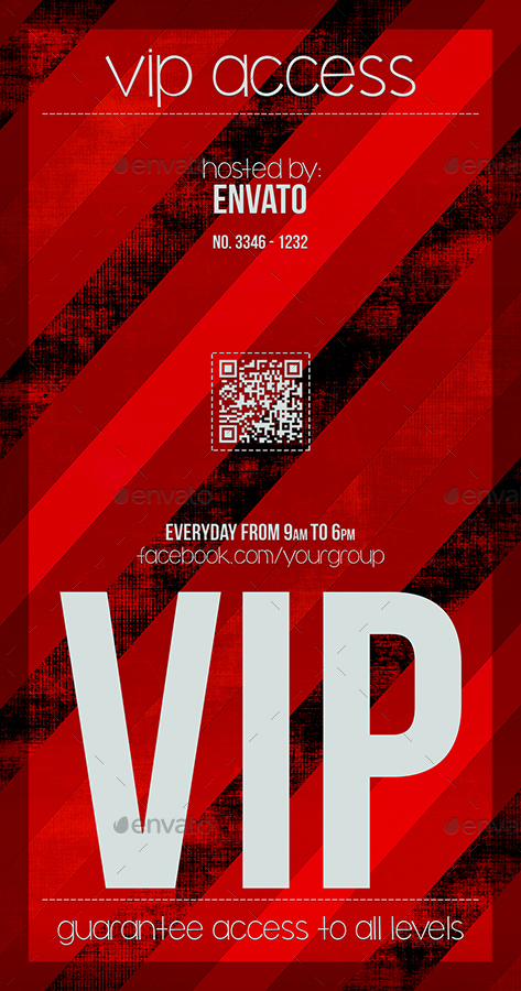 Preview Set/Vertical ...  Free Vip Pass Template