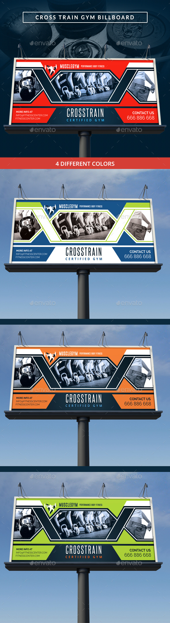 Cross Training Gym Signage Billboard - Signage Print Templates