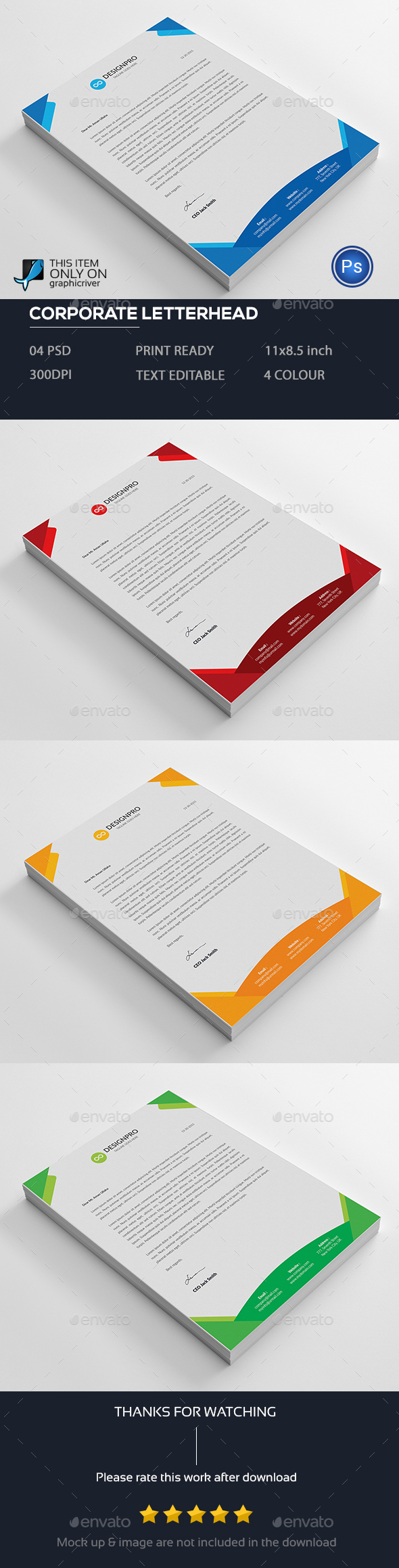 Letterhead template by designstemplate graphicriver letterhead template stationery print templates spiritdancerdesigns Choice Image