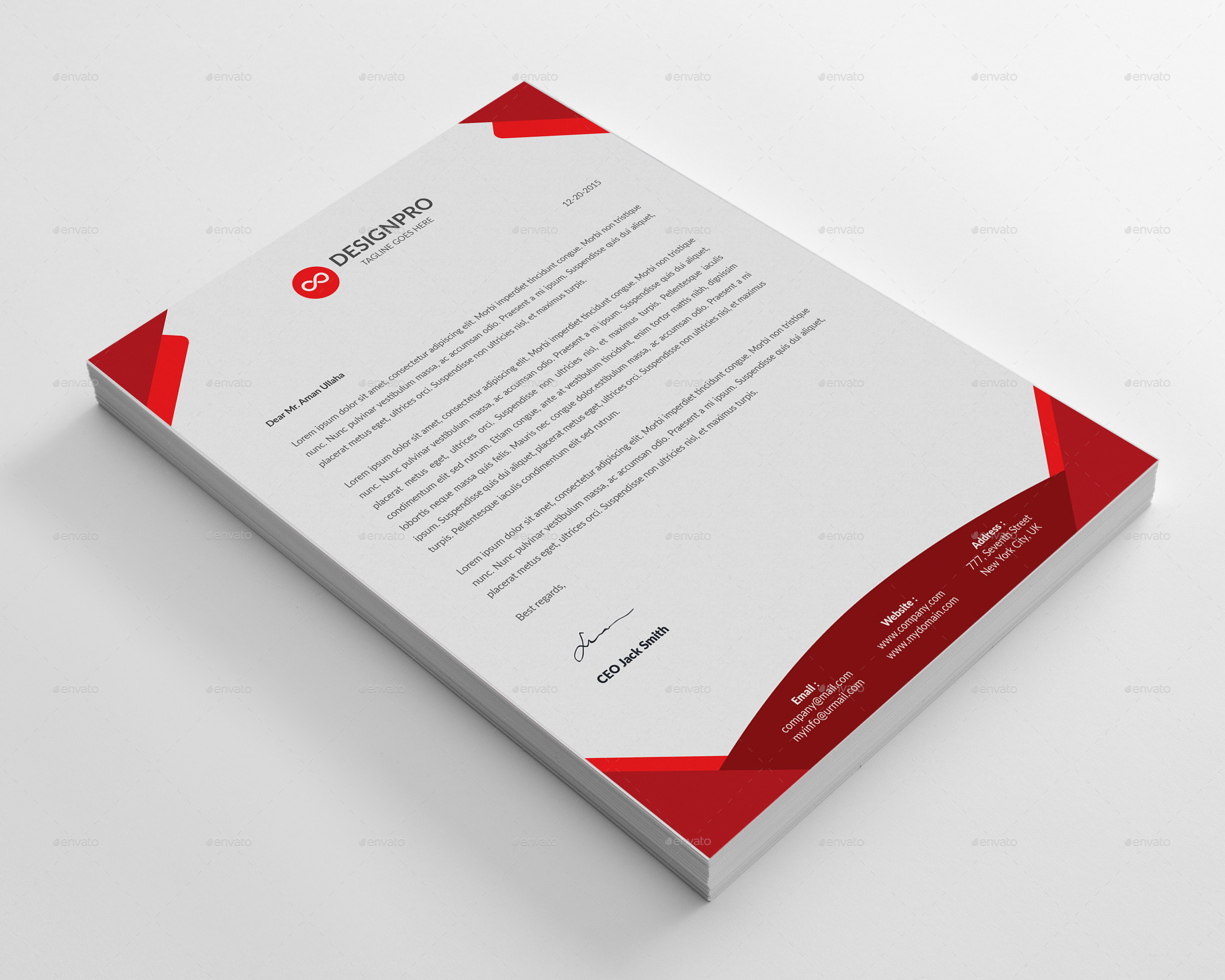 Letterhead template by designstemplate graphicriver letterhead template thecheapjerseys Image collections