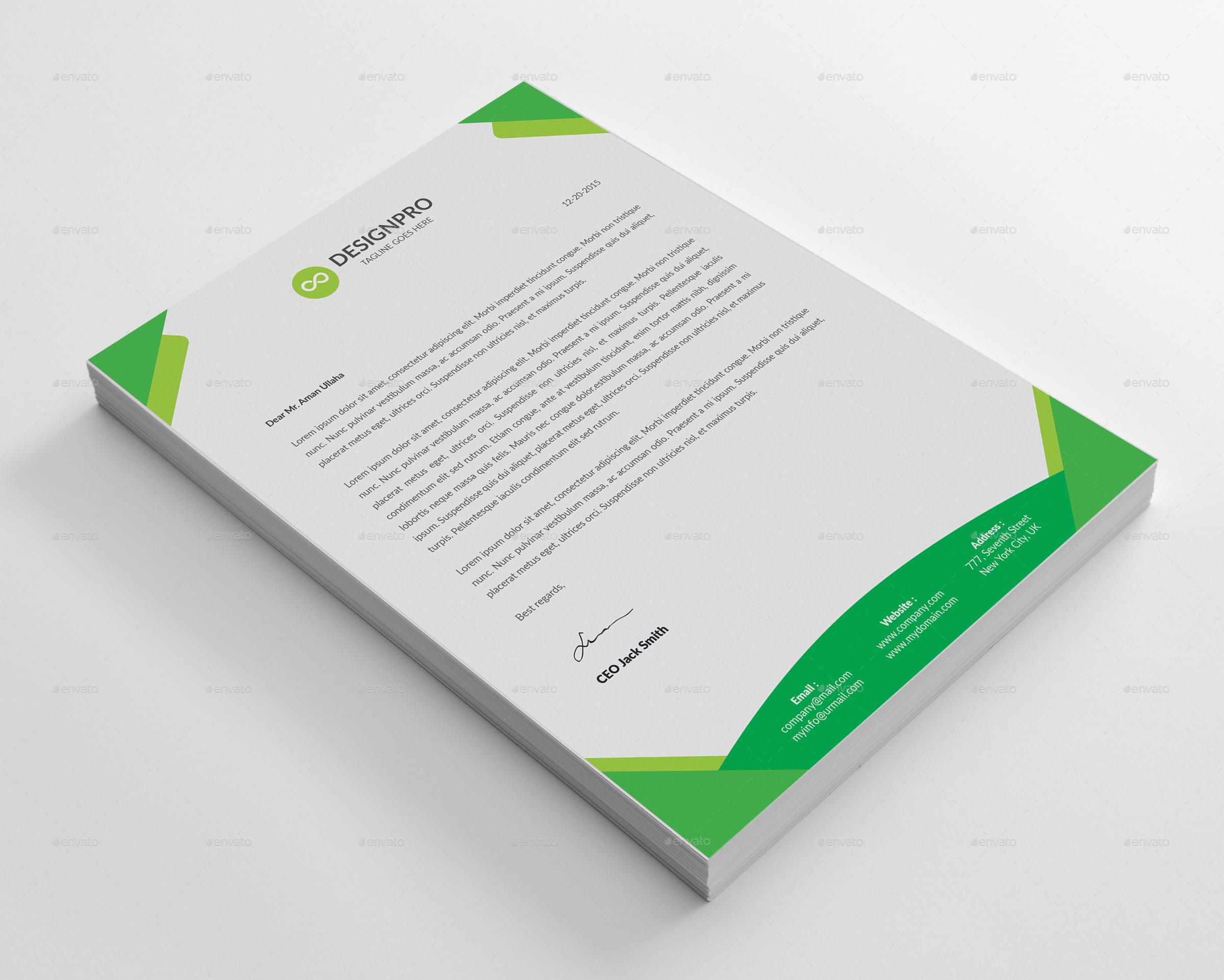 Letterhead template by designstemplate graphicriver letterhead template spiritdancerdesigns Images