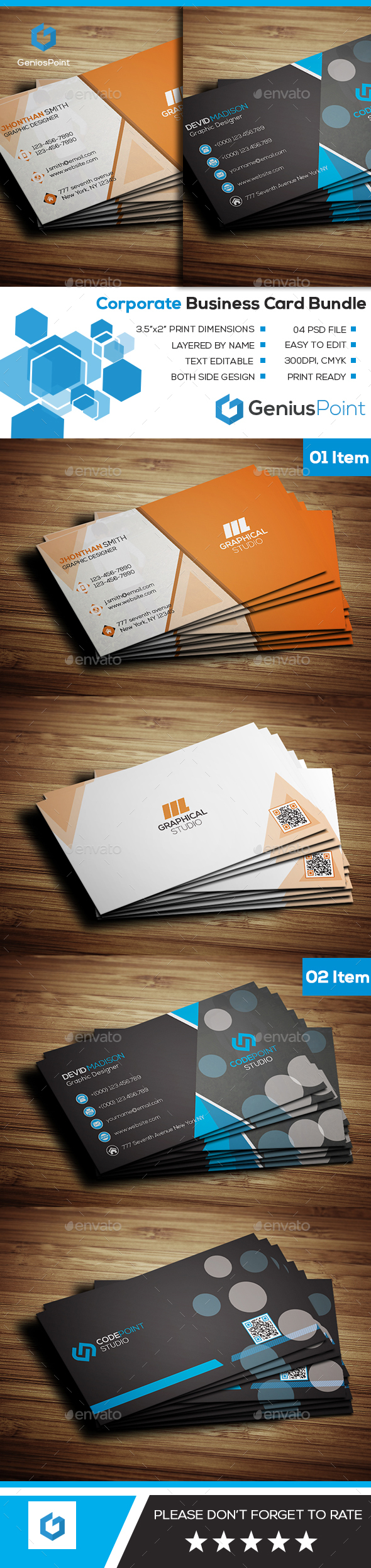 Business card bundle 10 by geniuspoint graphicriver business card bundle 10 business cards print templates reheart Choice Image