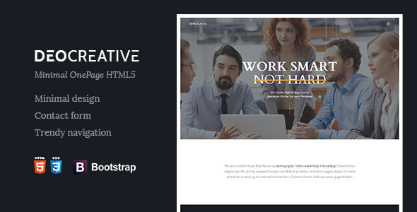 DeoCreative | Minimal Onepage HTML5 Template