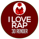 I Love Rap Statue 3D Render - GraphicRiver Item for Sale