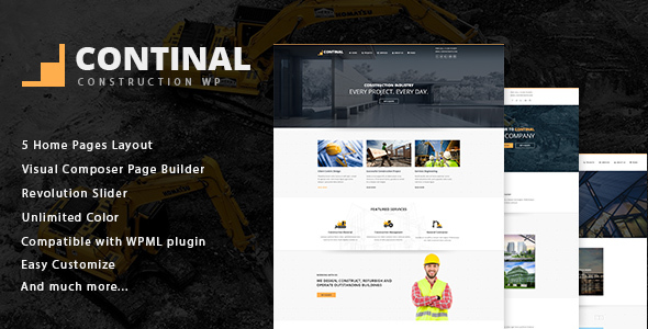 Continal – Construction & Business WordPress Theme