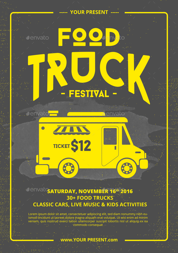 Food Truck Flyer Poster By Monogrph Graphicriver