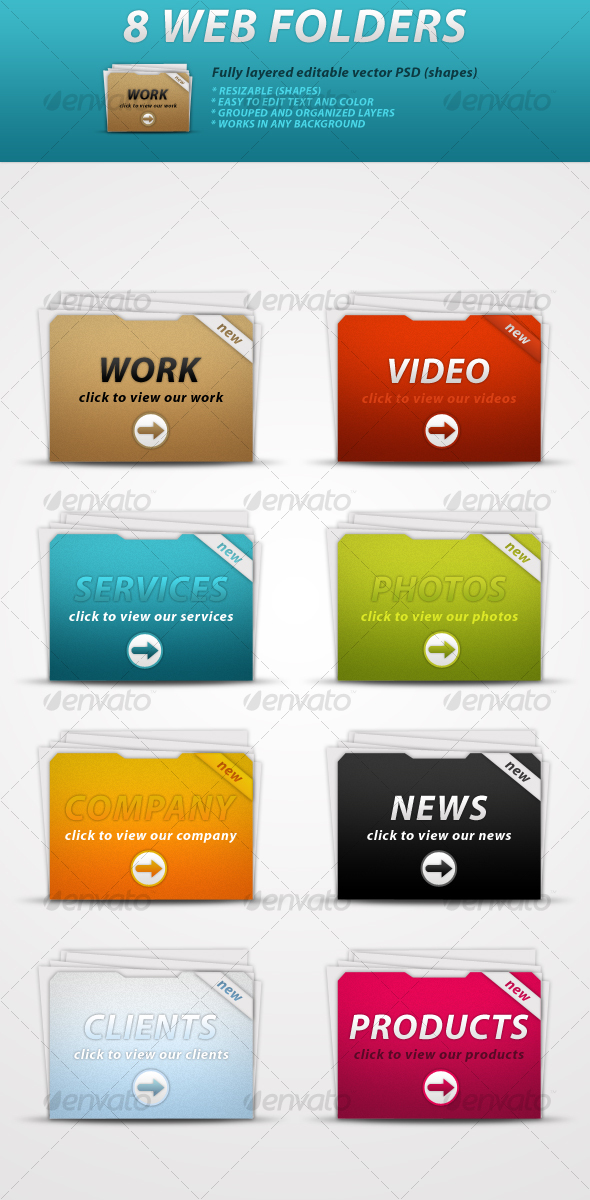 8 Web Folders - Web Elements