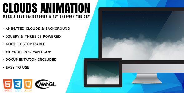 Clouds - jQuery 3D Animation - CodeCanyon Item for Sale